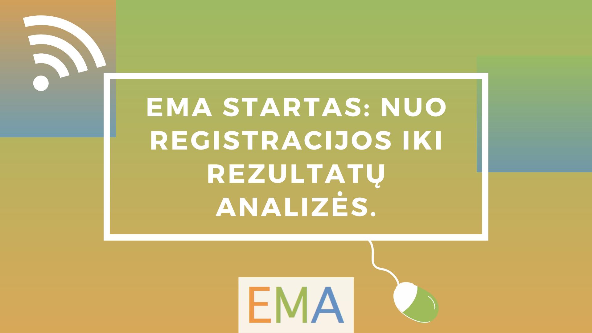 EMA startas: nuo registracijos iki rezultatų analizės.